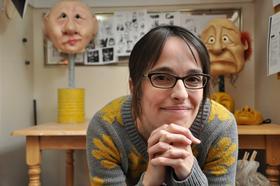 Kate Braidwood in her Portland mask-making studio.