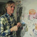 Michael T. Hensley in his studio.