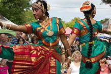Dancers from the Kalabharathi School of Indian Dance, Ten Tiny Dances, Beaverton.