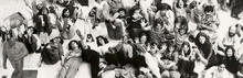 """Museum Art School Students and Faculty in the Portland Art Museum's Sculpture Court."" Circa 1970-1975."