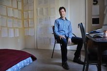 Victor Lodato in his Ashland study.