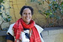 Ana-Maurine Lara at Eugene's Temple Beth Israel.