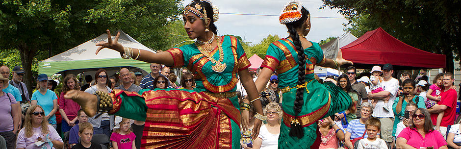Dancers from the Kalabharathi School of Indian Dance, Ten Tiny Dances, Beaverton.